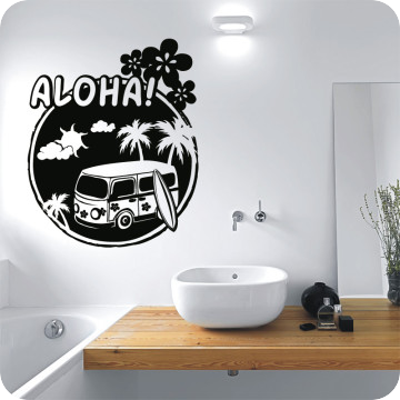 wandtattoo aloha. Black Bedroom Furniture Sets. Home Design Ideas