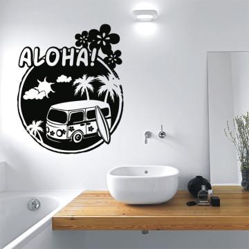 wandtattoo aloha. Black Bedroom Furniture Sets. Home Design Ideas