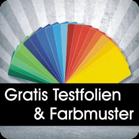 Gratis Testfolien und Farbmuster